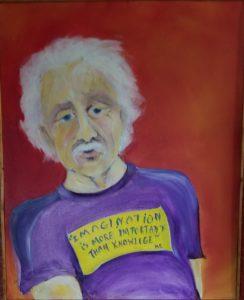 Einstein by Nedra Wood